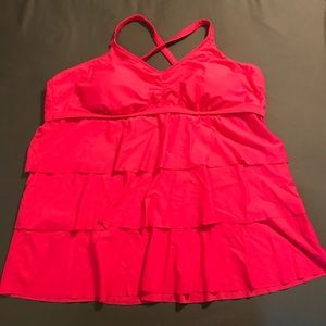 Target ruffled swimsuit top 24W hot pink